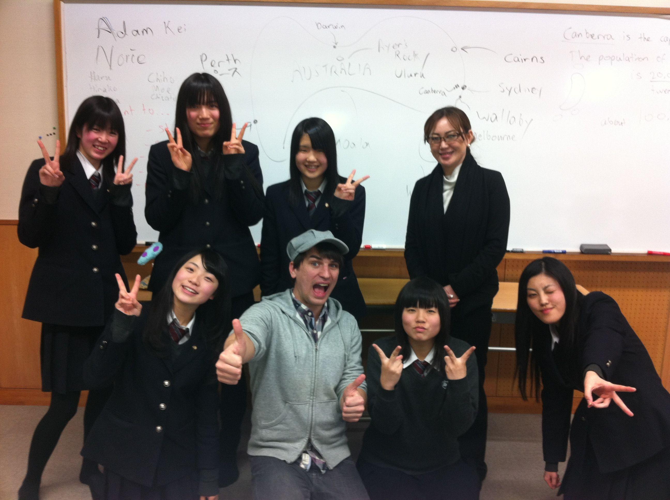 事前に英会話授業を行いました。